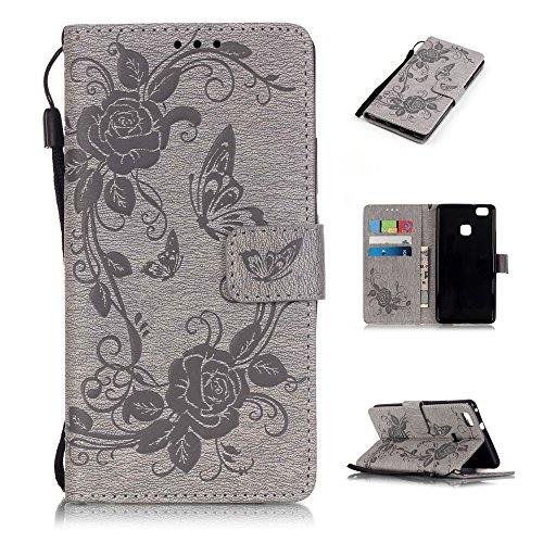 Nutbro Huawei Ascend P9 Lite Case, P9 Lite Wallet [Wallet Case], [Stand Feature] Magnetic Closure with Built-in Credit Card Slots Wallet Case for Huawei Ascend P9 Lite (Von Verizon Smartphones)