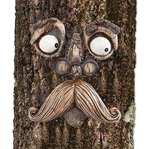 Bits and Pieces - Adorno para decorar árboles con aspecto de cara de anciano de fantasía