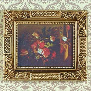 The Dolls House Emporium Floral Picture in Ornate Frame 1:12 scale