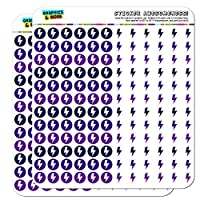 Lightning Bolt Storm Weather Dots Planner Scrapbooking Crafting Stickers