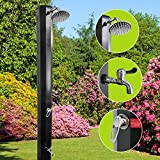 Maxampere - Solardusche Gartendusche Pooldusche Campingdusche Außendusche Dusche Brause 35 Liter Fassungsvermögen + zusätzlichem Wasserhahn (Fußdusche)