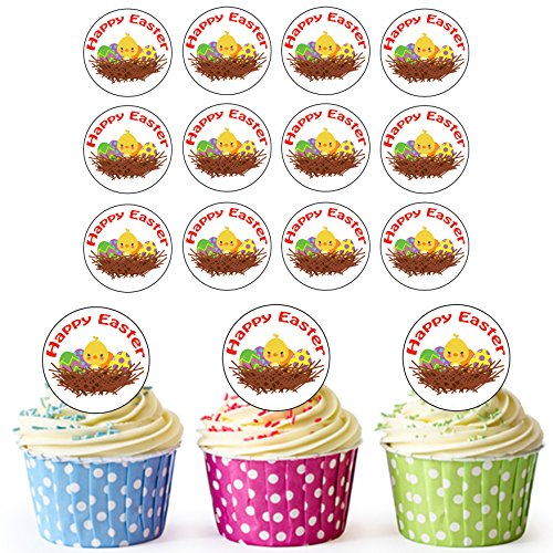 ersonalisierte Essbare Cupcake Topper/Ostern Kuchen Dekorationen-Einfache vorgeschnittenen Kreise ()