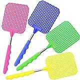 com-four 4X Swatter télescopique de Mouche en différentes Couleurs [Couleur varie],...