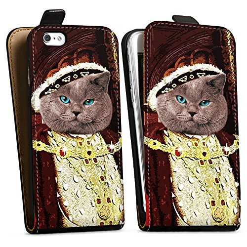 Apple iPhone X Silikon Hülle Case Schutzhülle Kater Edelmann Katze Cat Downflip Tasche schwarz