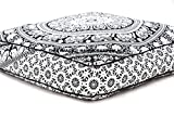 Elefanten Mandala Boden Kissen indischen quadratisch osmanischen Pouf groß Meditation Kissen Oversized Outdoor Bett Überwurf