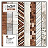 DocRod LLC Papermania 15,2x 15,2cm Papier Pack (für)/- Elements Holz, mehrfarbig, 36Stück