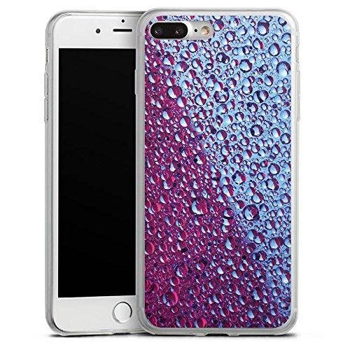 Apple iPhone 8 Plus Slim Case Silikon Hülle Schutzhülle Topfen Wasser Lila Silikon Slim Case transparent