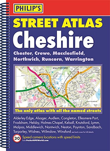 Philip\'s Street Atlas Cheshire: Spiral Edition