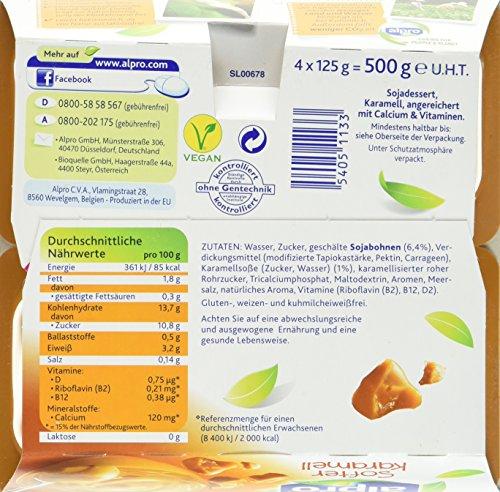 Alpro Soya Dessert softer Karamel, 6er Pack  (6 x 4 x 125g) - 5