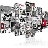 murando Cuadro 200x100 cm - 3 colores a elegir ! XXL Format! TOP Lienzo tejido no tejido - 5 Partes - Abstraccion Cuadro Impresion en calidad fotografica i-C-0092-b-p Banksy Collage 200x100 cm