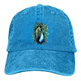 Pants Hats Proud Peacock Denim Hat Adjustable Women's Stretch Baseball Hat