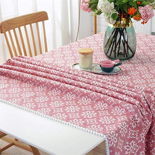 SONGHJ Restaurant Tischdecke Startseite Kaffeetisch Abdeckung Handtuch Quadrat Tischdecke Esszimmer Weihnachten Tischdecke 03 100x140cm