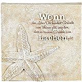 Poesie-Stein mit Spruch - Wenn das Leben Dir hundert Gründe..., 15 x 15cm
