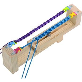 DIY Wood Jig Bracelet Maker Paracord Wristband Knitting Tool Parachute Cord Knit