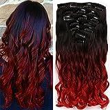 Neverland Dip Dye Ombre Extensions Clip In Extensions Echthaar Haarverlängerung Haarteile Bunte