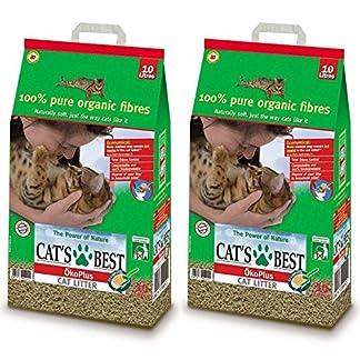 2 x 30L Cat's Best Okoplus Clumping Cat Litter Multibuy 61qaIvAqHyL