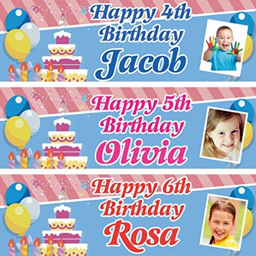 fancyprint 2 Personalisierte Geburtstagsbanner Dschungeltier Kinder Party Poster Dekoration
