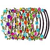 12 Stück Mehrfarbige Rosen Blumen Stirnbänder Frauen Mädchen Moderne Blumen
