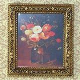 Dolls House 3062 Image Bouquet de Fleurs Cadre : Or 1:12 pour Maison de Poupée