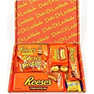 Reese's American Sweets Box - USA Candy Peanut Butter by Dolci Di Lechlade Reeses Present Hamper