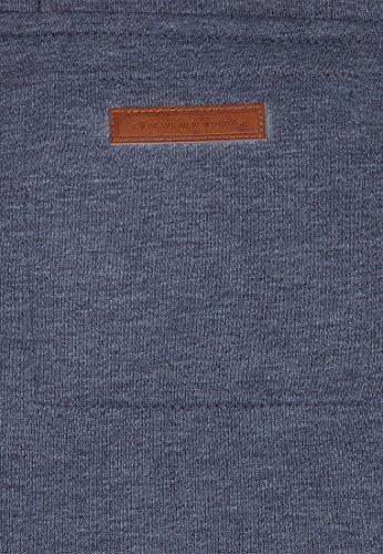 Naketano Male Zipped Jacket Schwarzkopf IV indigo blue melange