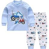 Pijamas de Manga Larga para Niños, Morbuy Pijamas Dos Piezas Bebe Niño y Niña Otoño Suave Y Cómoda Ropa 100% Algodón Ceñido M