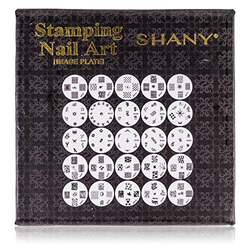 Shany Cosmetics Shany 2013 Nouveau Lot vernis à ongles Assiettes d'image Image Plaques avec stockage Lot de 25 plaques