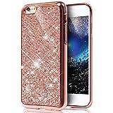 EUWLY Schutzhülle für iPhone 6S/iPhone 6, Überzug Schutzhülle Luxus Glitter Diamant Glänzend Hülle für iPhone 6S/iPhone 6, Silikon Hülle [Glitzer Strass] Hülle Glitzer Mädchen Kristall Strass Diamant