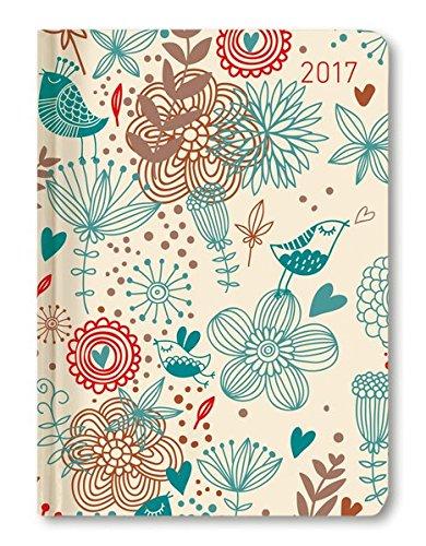 Ladytimer Birds 2017 - Taschenplaner / Taschenkalender A6 - Weekly - 192 Seiten