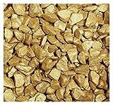 Farbsteine, Dekosteine. Körnung ca 9 - 13 mm, metallic 0,5 KG GOLD -39