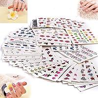 50piezas para manicura Vanyda, plantillas con adhesivos estampados para diseños de uñas, transferencia acuosa