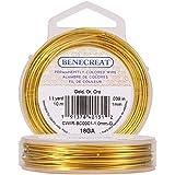 BENECREAT Aanslagbestendige gouddraad, 1,0 mm, koperdraad voor het maken van sieraden, 10 m