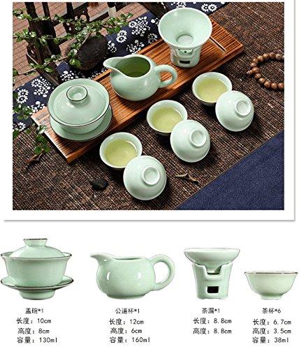 YUANLINGWEI Kung Fu Kaffee Set Home Celadon Kaffee Set Mandala Anzug