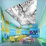 Rureng 3D Großer Baum Tapeten Wandbild Für Wohnzimmer Und Korridor 3D Wandverkleidung Dekorieren-400X280Cm