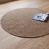 JHDT RundeTeppich Vorleger Teppich Handgenähten Teppich Einfachen Wohnzimmer Matten Matten Rund Durchmesser 120cm/Durchmesser 160cm Orientteppich (Form : Runden, Größe : Diameter 120cm)