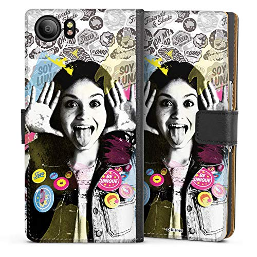 DeinDesign BlackBerry KeyOne Tasche Leder Flip Case Hülle Soy Luna Disney Fanartikel Geschenke