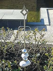 "Edelstahl Zierstab ""romantic elegance"" Gartendekoration, Rankhilfe, Rosenstab"