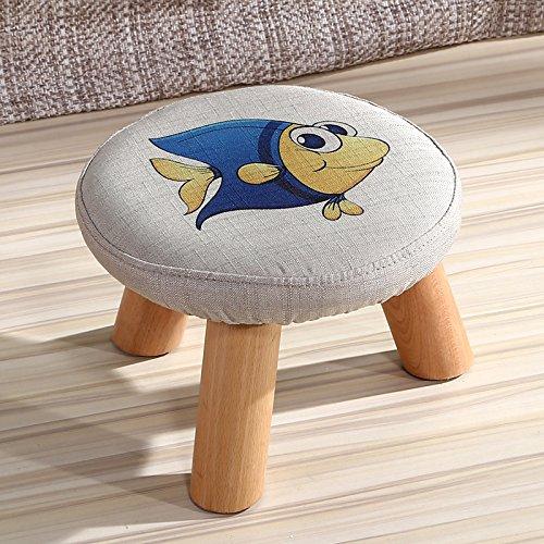 Dana Carrie En d'autres selles banc de chaussures sur une table basse tabouret bas en bois massif et tissus adultes enfants créatifs élégante petite chaise canapé tabouret rond, petits poissons