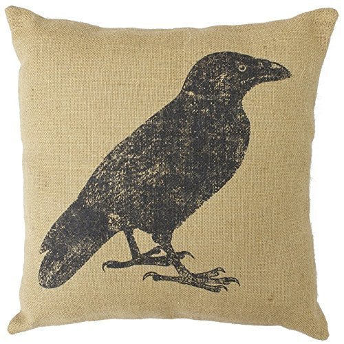Juzijiang HX-LDS Country Feed Sack (Crow) -9630 Throw Pillow Case Cushion Covers Square20X20 inch 9630 Cover