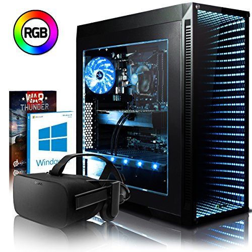 VIBOX Oblivion VGS570T-15 VR Gaming PC mit Oculus Rift, Spiel Bundle, Windows 10 OS (4,0GHz Intel i5 6-Core Prozessor, Nvidia GeForce GTX 1070 Ti Grafikkarte, 16Go DDR4 RAM, 120GB SSD, 2TB HDD)