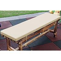 jHuanic Coussin imperméable pour banc de jardin 2/3/4 places, 100/120/150 cm, coussin rectangulaire pour balancelle de…