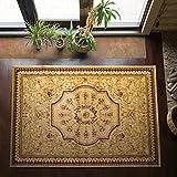 Teppich Orient Marrakesh | Stilvoll Orientalisch Fürs Wohnzimmer, Schlafzimmer, Kinderzimmer | Schadstoffgeprüft, Allergikergeeignet (Beige, 80 x 150 cm)