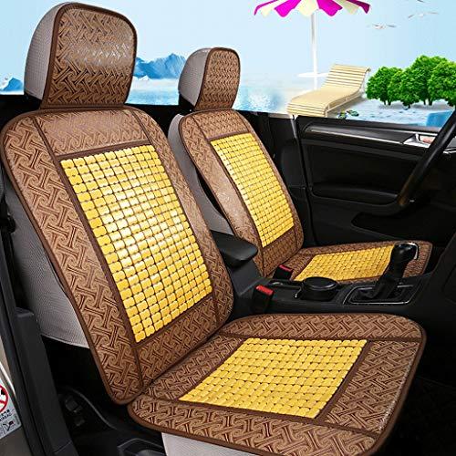 Preisvergleich Produktbild XHCmat Bambusmatte Autositzbezug,  Sommer umgeben von Bambus atmungsaktiv cool Kissen Kissen,  Leinen Autositzbezug (Farbe : Beige)