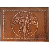 Horizontal Wheat Cabinet Panel in Rustic Tin by Irvin's Country Tinware