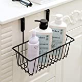 Zollyss Over Door Hanging Basket | Hanging Cabinet Storage Organizer for Kitchen, Bathroom (Black, Pack of 1 Pc)