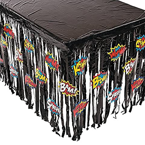 Superhero Super Hero Table Skirt Party Decoration - 29H x 108W by party supplies