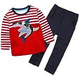 Coralup Chándal de camuflaje para niños pequeños + pantalones 2 piezas de algodón para niños 18 meses - 8 años