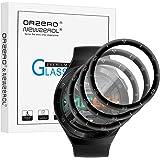 NEWZEROL 3 paket kompatibla med Huawei Watch GT 2e skärmskydd i härdat glas, [urtavla skydd med skala] 3D kolfiber kant hög u