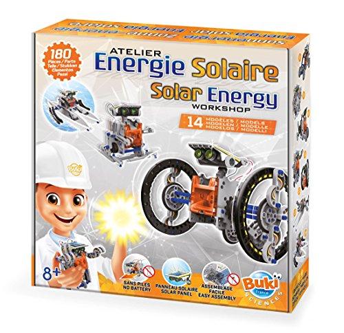Ensambla los elementos y crea un robot que funciona con energía solar. Se incluyen 14 modelos distintos entre ellos: coche, cangrejo, boxeador y barco. Folleto ilustrado en color, con diagrama de montaje y actividades lúdicas. A partir de los 8 años.