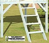 Gartenwelt Riegelsberger Holzleiter für alle Spielhäuser 146x55x12 cm Treppe Holztreppe für...